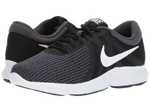 fafa6b5e5cc4 Nike Revolution 4 Wide(4E) AA7402 001 Black White-Anthracite Mens ...