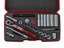 "TENG TOOLS T1436 36 PIECE 1/4"" DRIVE SOCKET SET 6 point sockets + Accs * PROMO *"