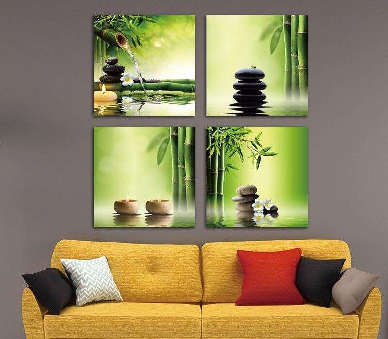 Canvas Prints Bamboo Grün Wall Paintings Art For Home Office Unframed Flower