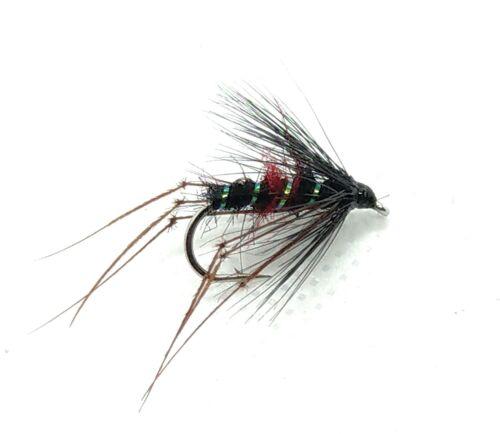 Le mosche Hopper Dry 3 Pack TERRESTRE si asciuga 5 COLORI TROTA PESCA A MOSCA Taglia 10,12