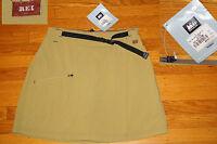 Rei Mojave Skort Cargo Skirt W/ Shorts Lime Green Upf 30 Nylon W Tags 8