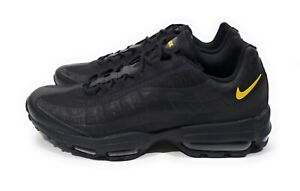 buy popular 625ec ecf44 Details about Nike Air Max 95 Ultra SE Mens Running Shoes Black Yellow  Reflective Size 8.5