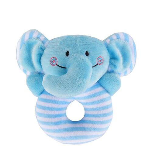 Baby Babies Boys Girls Animal Rattle Soft Push Ring Cuddle Toy Toys Cat Lion HD