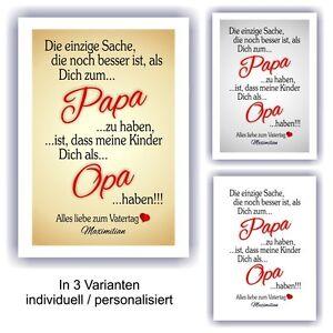 Urkunde Vatertag Fest Geburtstag Geschenk Bild Liebe Papa Opa Ebay