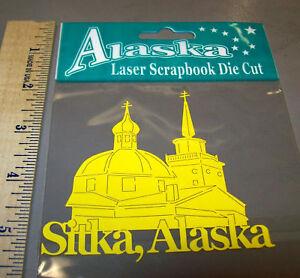 Sitka-Alaska-Laser-Scrapbook-Die-Cut-Acid-Free-Russian-Church-New-in-Package