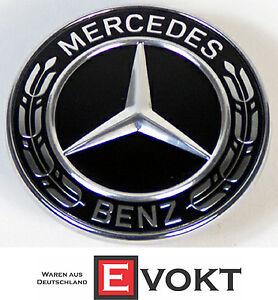Mercedes-Benz C-Class W205 S205 Black Bonnet Emblem Logo A0008171701 Genuine New