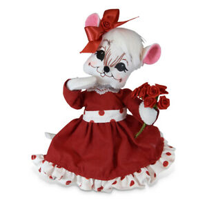 Annalee Dolls 2019 Valentine 6in Valentine Girl Mouse Plush New with Tags