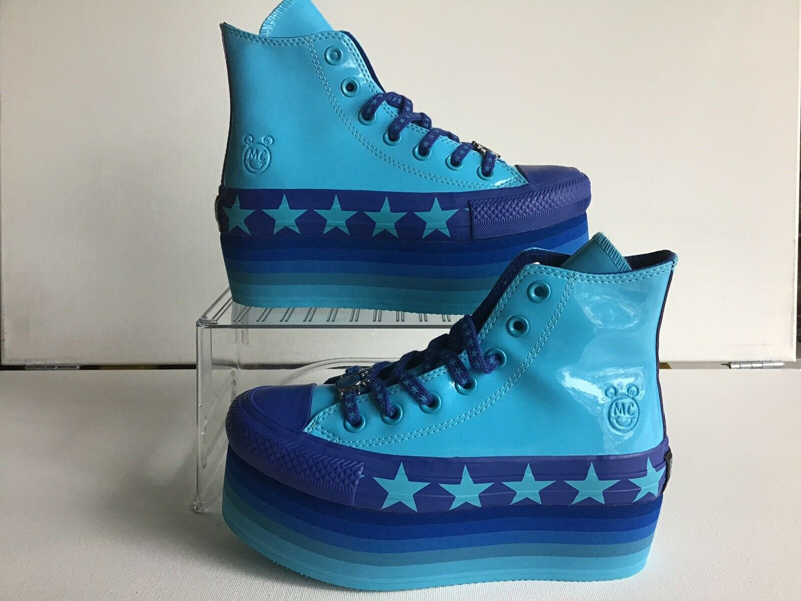 "W Converse CT All Star Platform HI ""Myley Cyrus"" Gnarly bluee Wmns.Sz.5 (563724C)"