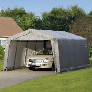 12x16 CAR SHELTER PORTABLE GARAGE AUTO VAN AWNING CARPORT ...
