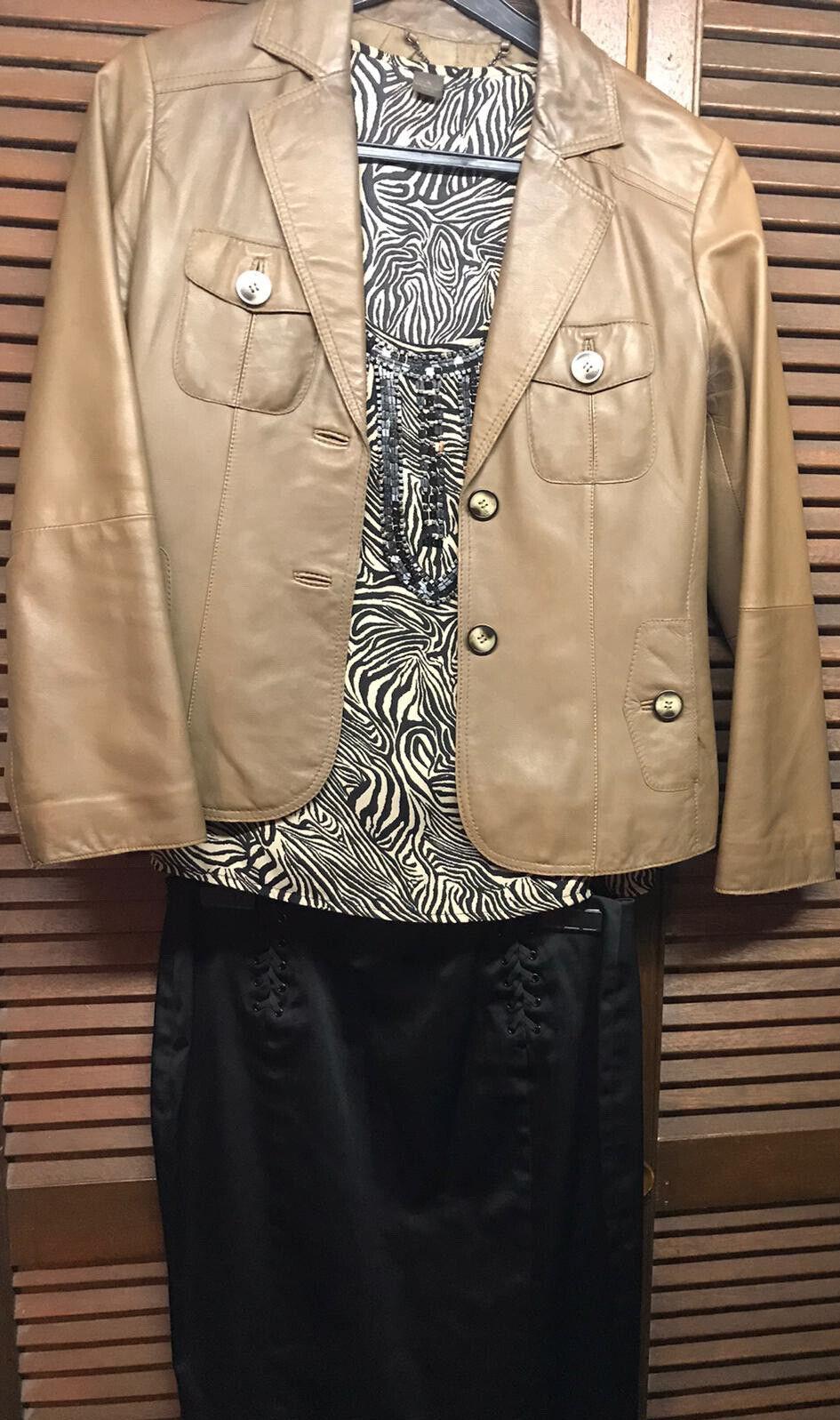 2.Marken Kleiderpaket 36/38 Lederjacke Top Rock S.Oliver Selection Mango