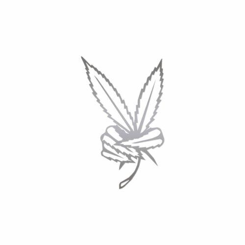 Marijuana paix Weed-Autocollant Vinyle Autocollant-Plusieurs Couleurs /& Tailles-ebn922