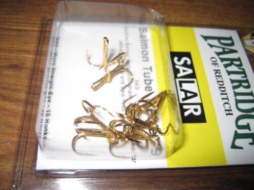 Partridge Salar X4G Gold Salmon Tube Fly Treble Hooks All Sizes