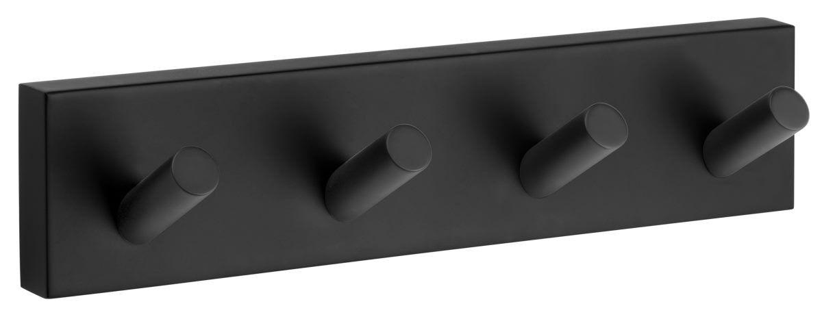 Smedbo House Viererhakenleiste schwarz RB359   | Um Zuerst Unter ähnlichen Produkten Rang