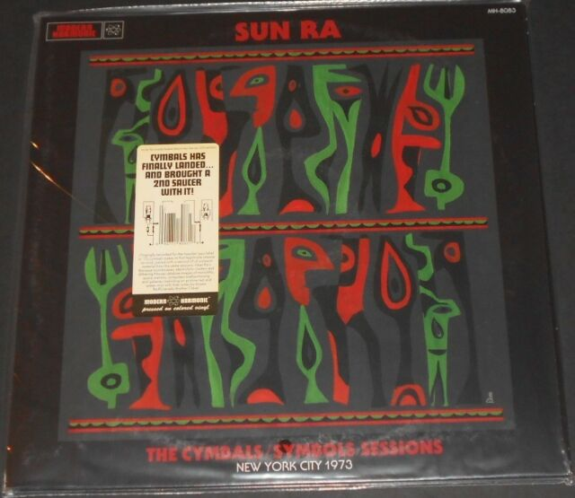 SUN RA the cymbals/symbols sessions nyc 1973 USA 2-LP new RED and GREEN VINYL