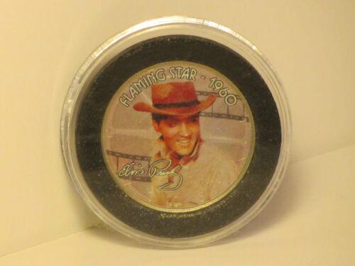 Elvis Presley Flaming Star 1960 Colorized Kennedy Half Dollar Coin