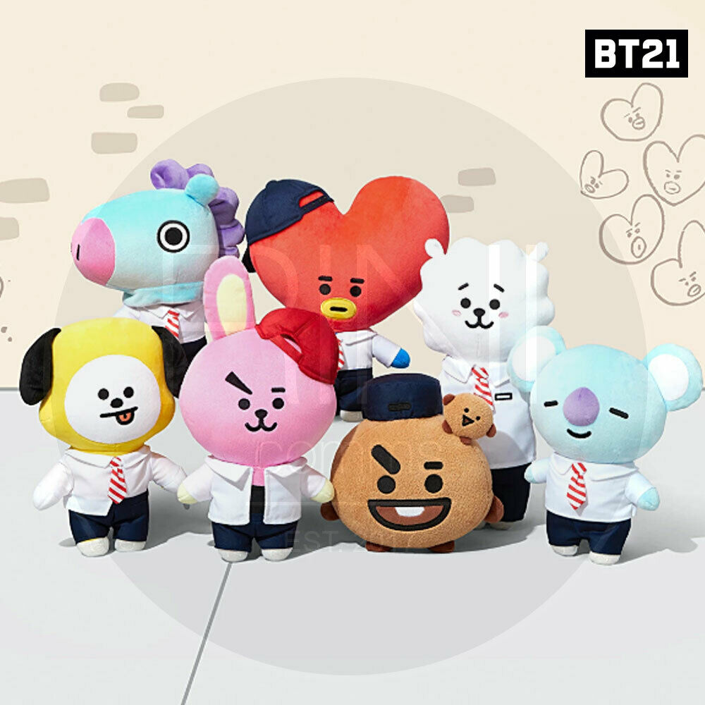 BTS BT21 Official Authentic Goods Afterschule Plush Standing Doll +Tracking Code