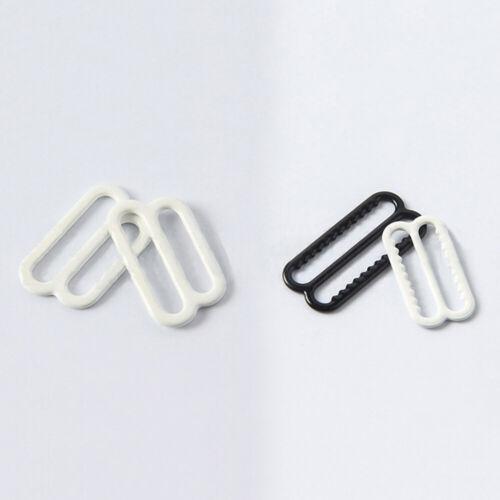 100 Pcs Metal Bra Sliders Lingerie Adjusters DIY Buckle Rings Underwear Sewing