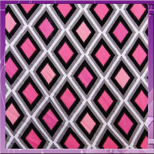 100% RAYON DIAMOND PRINT 54 INCHES WIDE FABRIC SOLD BY THE YARD FUCHSIA PINK