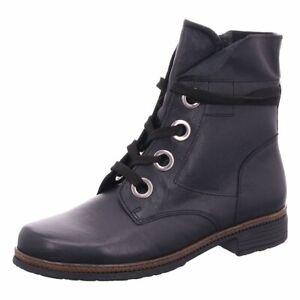 Gabor schwarze Stiefeletten Stiefel Schuhe 37.5 echt Leder