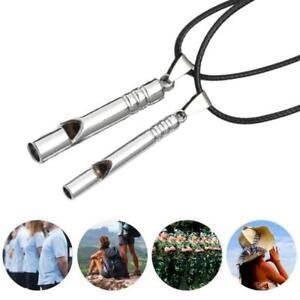 Portable-High-Titanium-Emergency-Whistle-Porte-cles-EDC-Collier-Survie-en
