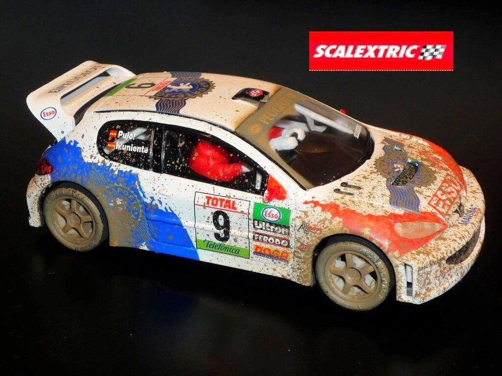 Peugeot 206 WRC Efecto Barro Scalextric 1 32 Nuevo nº 9