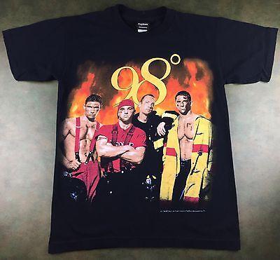e4c99e5fbf0 Vintage Mens S 1998 98 Degrees Heat It Up Tour Concert Band Nick Lachey T-