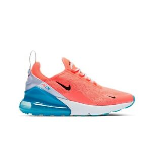 Nike Air Max 270 Lava Glow Black White Blue Fury Women S Shoes