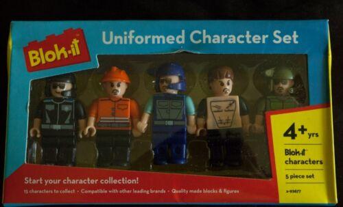 Bloc Tech en uniforme personnage Pack x 4 boy faire votre propre aventure toy set