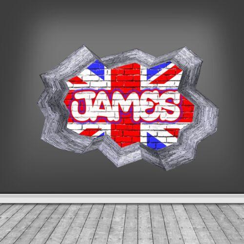 Vintage Flag Tin Bold Graphic Ruffled Flag United Kingdom Red White and Blue Union Jack