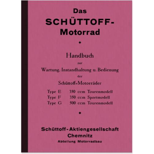 Schüttoff E T F 350 S G 500 Bedienungsanleitung Betriebsanleitung Handbuch