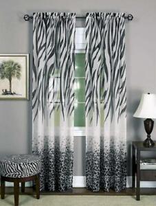 Achim Home Furnishings Kenya Window Curtain Panel Black
