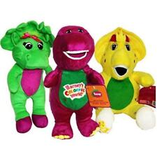 """Barney and Friends Baby Bop Bj Plush 12"""" 3pcs Doll Singing I Love You"""