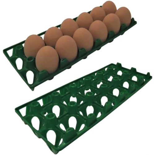 6 RITE FARM PRODUCTS 12 EGG POLY CHICKEN TRAYS SHIPPING CARTON POULTRY FLAT