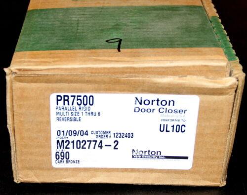 PR7500 Parallel Rigid Door Closer Size 1-6 Reversible DARK BRONZE WT 2774-2