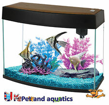Fish R Fun, Panoramic Fish Tank 20L Black, LED Lighting