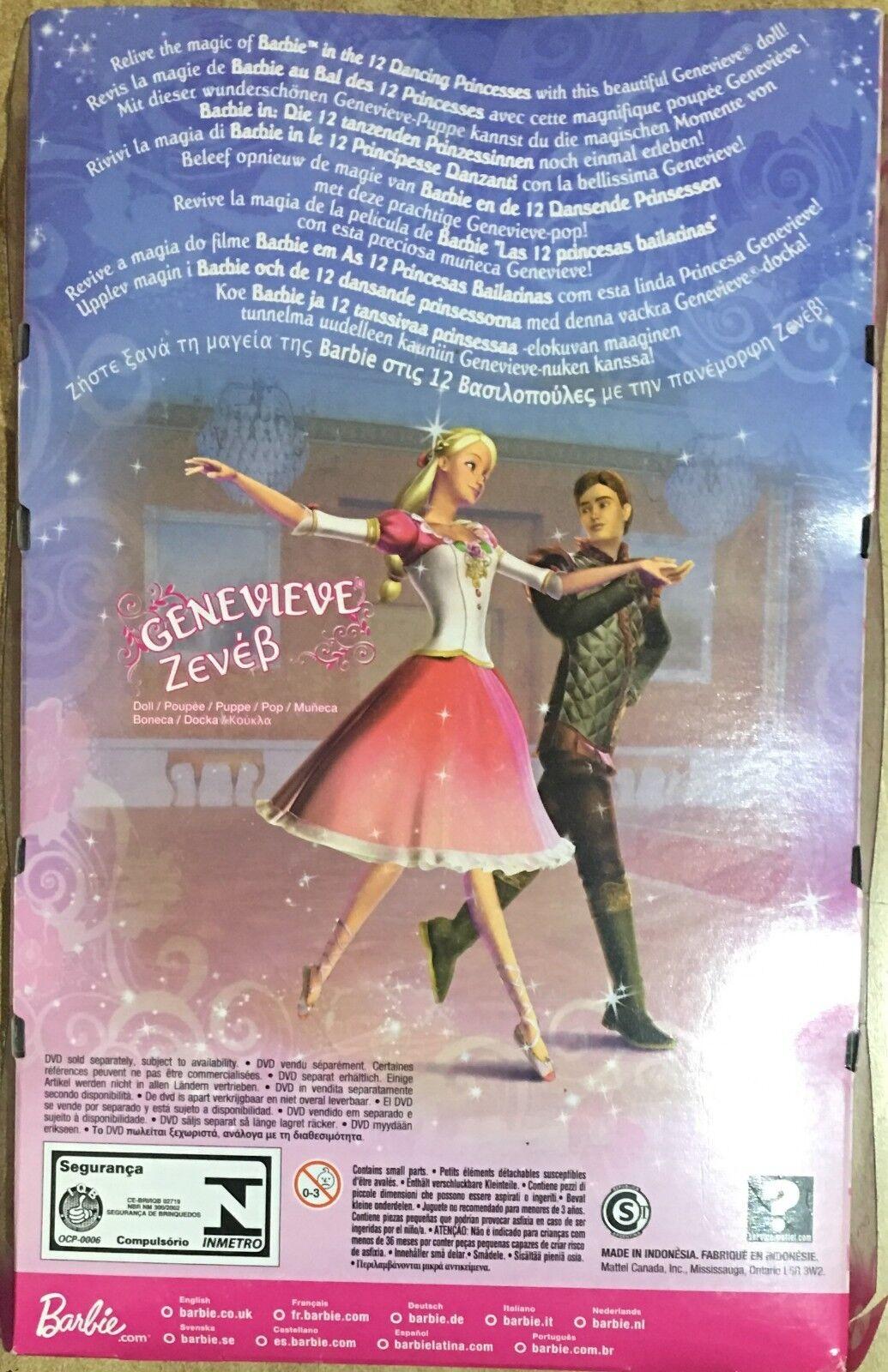 Barbie Mattel Princess Genevieve Genevieve Genevieve Principessa 08' 8b68cc