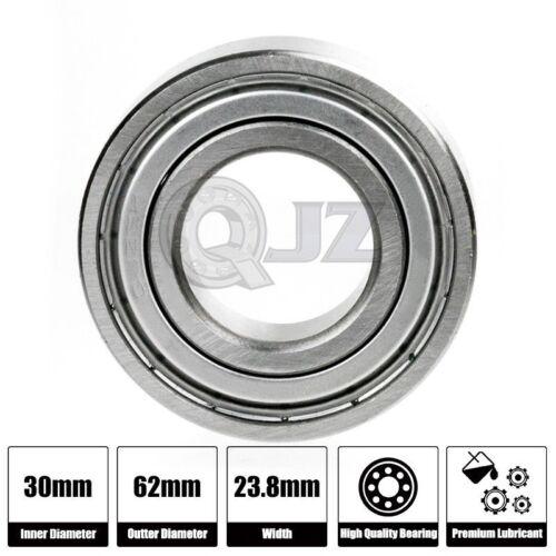1x 5206-ZZ 30mm X 62mm X 23.8mm Bearing Metal Seal Shield 2Z NEW