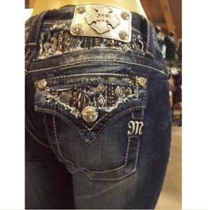 mig Xp8188b Jean Størrelse Style Fit Cut Boot ~ Afslappet ~ Miss W 27 Udsmykket Pocket BwPqXddx