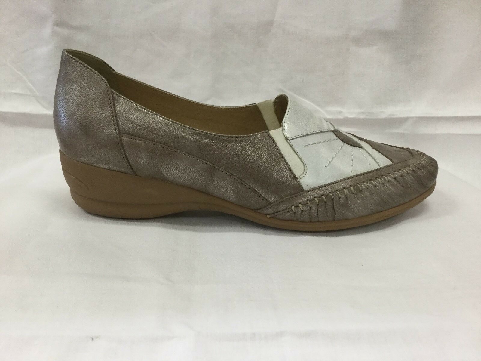 LADIES SHOES FOOTWEAR - Cassini Jump taupe white shoe