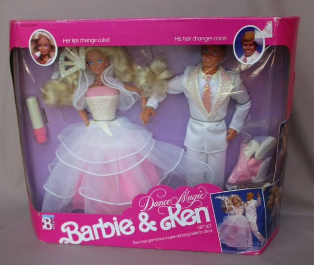 1990 Dance Magic Barbie & Ken Gift Set Hair & Lips Change Color New In Box  NRFB