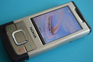 Nokia Slide 6500-Silber (entsperrt) Handy