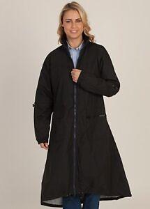 Long-Waterproof-Walking-Cycling-Riding-Rain-Coat-Jacket-New-Black-Red-Navy