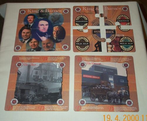 King /& Barnes The Horsham Brewery Set of 4 Jigsaw Puzzle Beer Mats ~ New