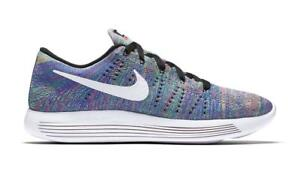 pretty nice 5821f 7e283 Image is loading Womens-NIKE-LUNARGLIDE-FLYKNIT-Running-Trainers-843765-004