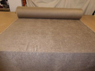 Job Lot 10m rolls of MOCHA Chenille Upholstery Fabric Caravans // Furniture