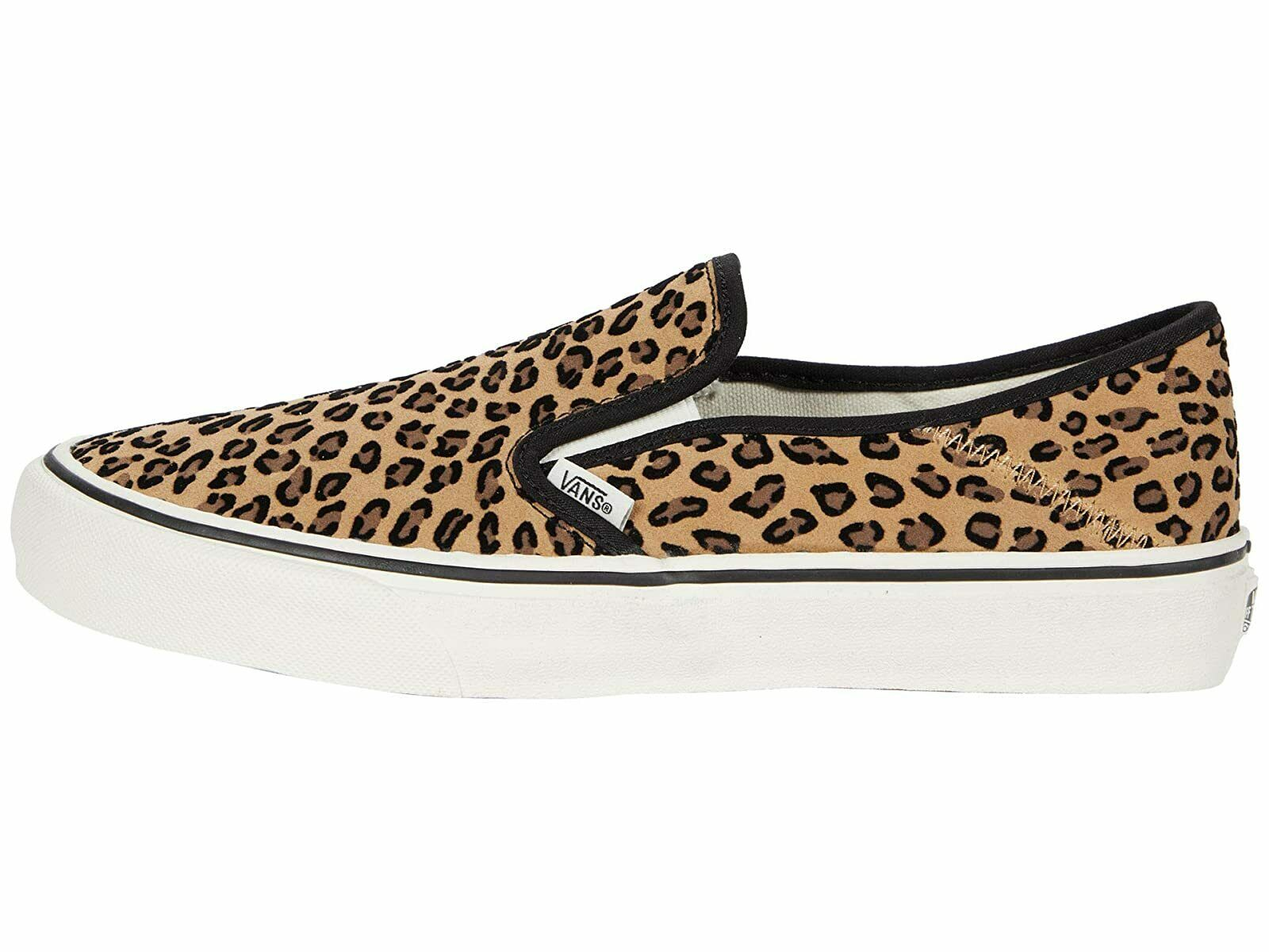 VANS SF LEOPARD PRINT SUEDE SLIP-ON CONVERTIBLE FASHION SNEAKERS SIZE 12