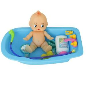 Plastic Baby Doll in Bath Tub with Shower Bath Accessories Set ...