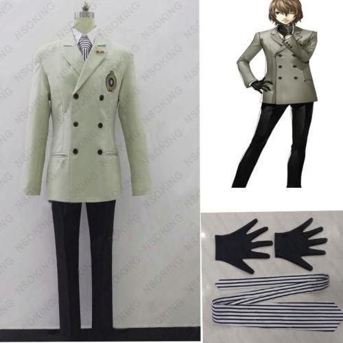 New Persona 5 Goro Akechi Cosplay Costum School Uniform
