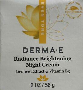 100-NEW-AND-AUTHENTIC-Derma-E-Radiance-Brightening-Night-Cream-2-oz