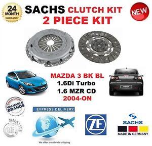 FOR MAZDA 3 1.6 Di Turbo BK 1.6 MZR CD BL 2004-ON SACHS 2 PIECE CLUTCH KIT